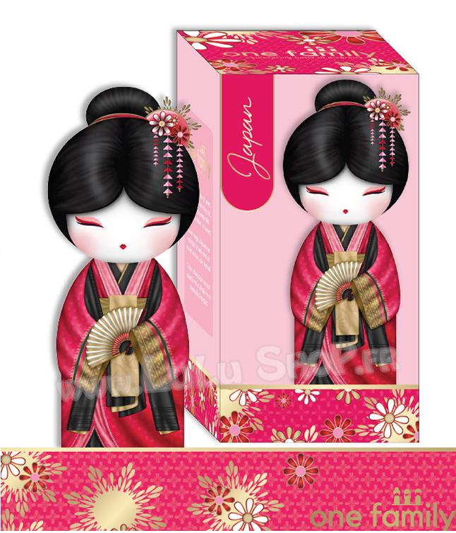 Lulu Shop poupée japonaise Kokeshi Figurine Ambassadrice One Family™ Japon Yume 1