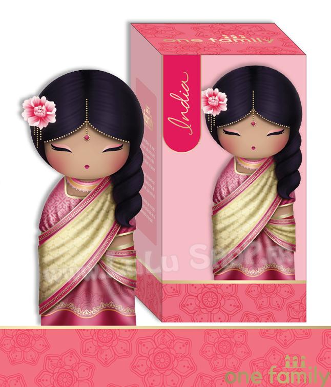 Lulu Shop poupée japonaise Kokeshi Figurine Ambassadrice One Family™ Inde Saira 1