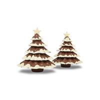 Sapin de Noël en chocolat en 3D