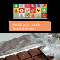 Mini Tablette de Chocolat : Joyeux Noël