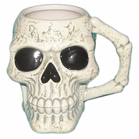 Mug en forme de crâne ancien