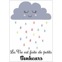 """Carte """"la vie est faite de Petits Bonheurs"""""""