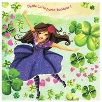 Carte Postale : Porte Bonheur, Danse avec la Chance