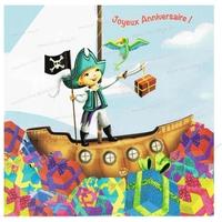 Carte Postale : Pirate, en avant moussaillon !