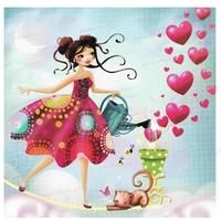 Carte Postale : La funambulle d'amour