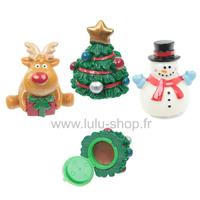 Baume à Lèvres de Noël : Bonhomme de Neige, Ours & Renne