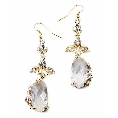 """Boucles d'oreilles fantaisie """" pendante """" imitation cristal"""