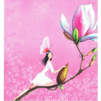 Mila Marquis : Fée sur la tige d'une fleur