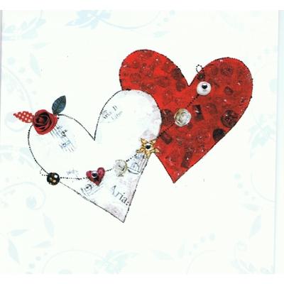 Carte Postale Double : Deux Coeurs