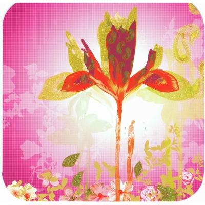 Carte Postale Double : Fleur Rose