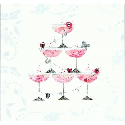 Carte Postale Double : Félicitations - Coupe Champagne