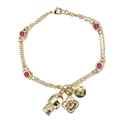 "Bracelet Charms Swarovski Kimmidoll Tomona ""Amitié Véritable"""