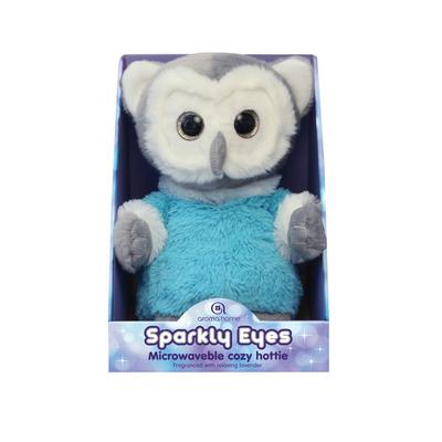 Peluche Chauffante avec Bouillotte Sparly Eyes Chouette Bleu