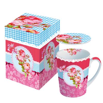 "Mug en Porcelaine ""Roses Wallpaper"""