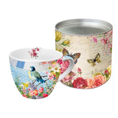 """Grand Mug en Porcelaine """"Oiseau Bleu"""""""