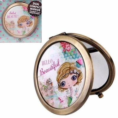 """VERITY ROSE Miroir de Sac """"Salut Beauté!"""", Miss Cupcake"""