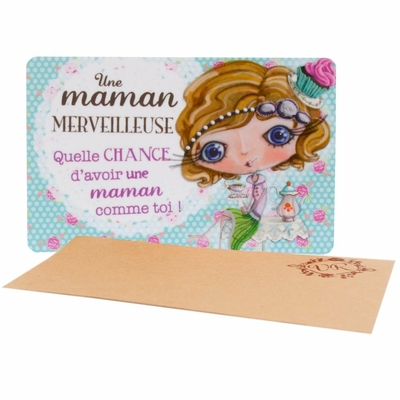 "VERITY ROSE Carte Cadeau ""Une Maman Merveilleuse"", Miss Cupcake"
