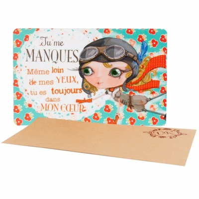 "VERITY ROSE Carte Cadeau ""Tu me Manques"", Miss Destiny"