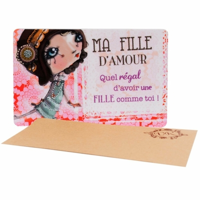 "VERITY ROSE Carte Cadeau ""Ma Fille D'amour"", Miss Flutterby"