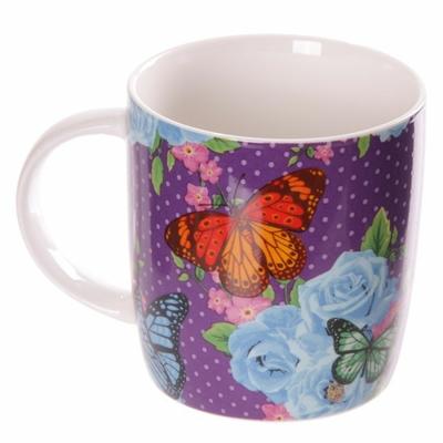 Mug Chintz - Design papillons et fleurs