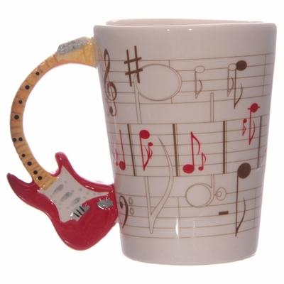Mug Partitions avec anse Guitare rouge