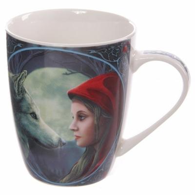 Mug Chaperon rouge et loup sous la pleine lune Lisa Parker