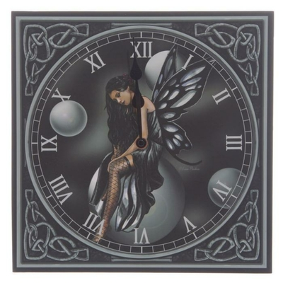 Horloge Dark Fairy Bubbles par Lisa Parker