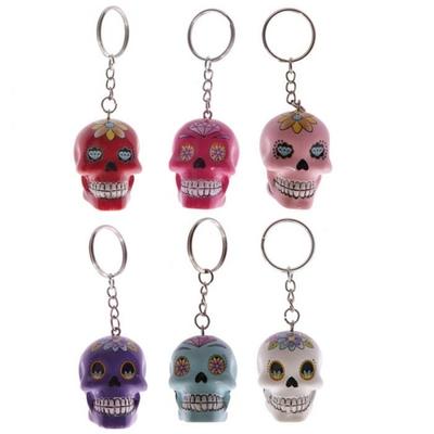 Porte-clés crâne jour des morts mexicains