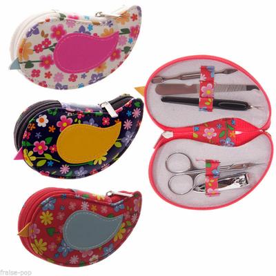 Kit De Manucure en forme d'oiseau à fleurs