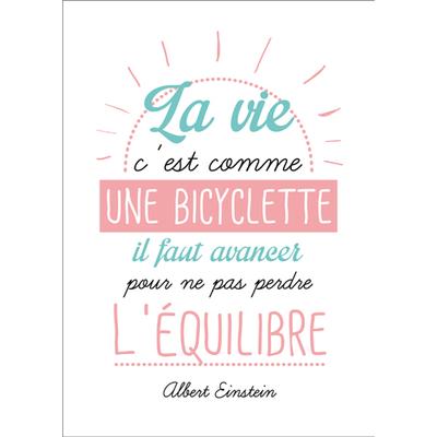 """Carte Postale """" La vie c'est comme une bicyclette il faut avancer ..... """""""