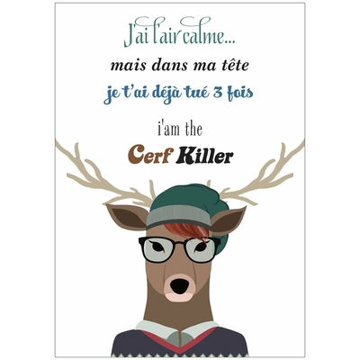 "Carte ""I am The Cerf Killer"""