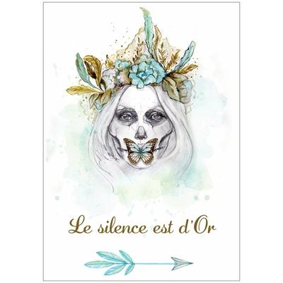 "Carte postale ""Le Silence est d'Or"""