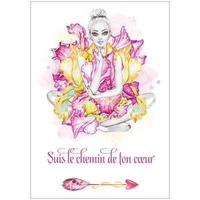 """Carte """"Suis le chemin de ton Coeur"""""""