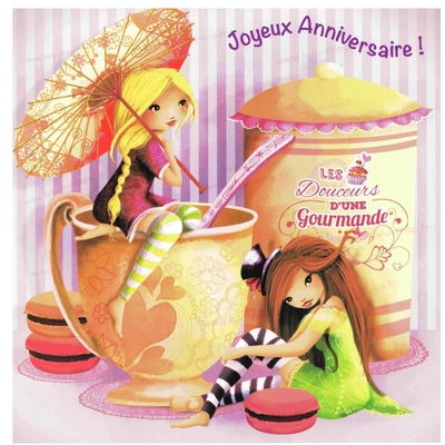 Carte Postale : Anniverssaire Gourmand !