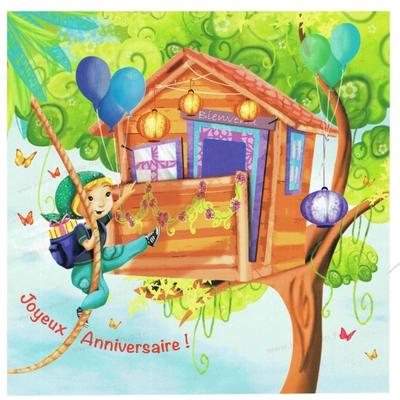 Carte Postale : L'intrépide aventurier, Joyeux Anniversaire