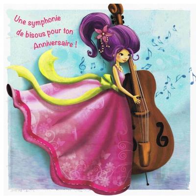 Carte Postale : Une symphonie de Bisous pour ton Anniversaire
