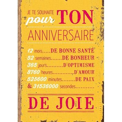 Carte Postale Vintage : Pour ton anniversaire