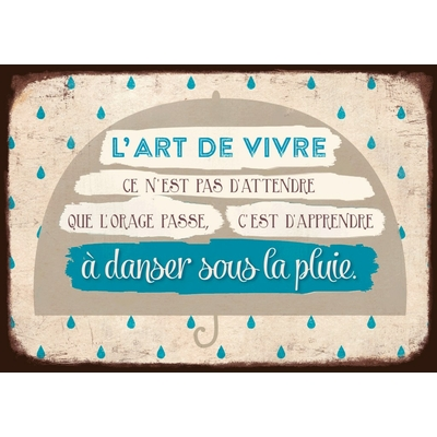 """Carte Postale Vintage : """" L'art de vivre ce n'est pas d'attendre que l'orage passe, ...."""""""