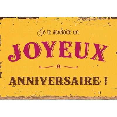 """Carte Postale Vintage : """" Je te souhaite un Joyeux anniversaire ... """""""