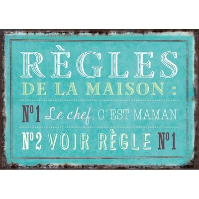 """Carte Postale Vintage : """" Règles de la maison : ... """""""