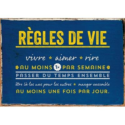 """Carte Postale Vintage : """" Règles de vie ... """""""