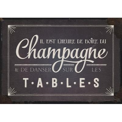 """Carte Postale Vintage : """" Il est l'heure de boire du champagne & de danser ... """""""