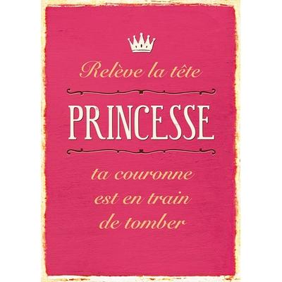 """Carte Postale Vintage : """" Relève la tête princesse ta couronne est en train de tomber ... """""""