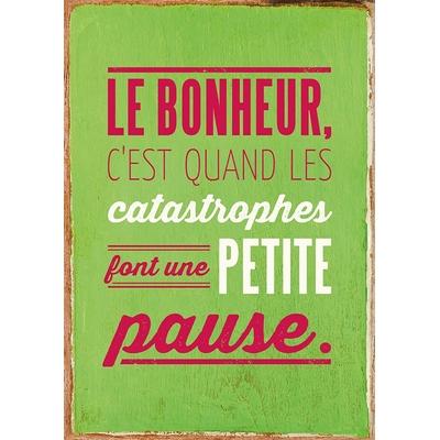 """Carte Postale Vintage : """" Le bonheur, c'est quand les catastrophes font une petite pause ... """""""