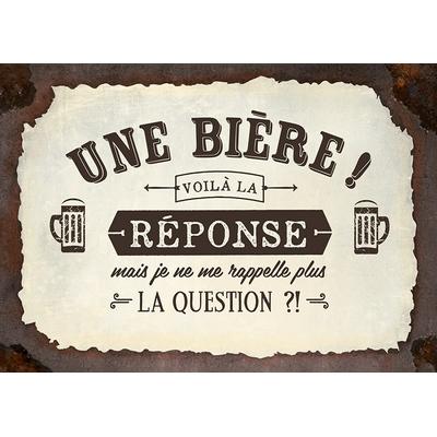 """Carte Postale Vintage :  """" Une bière ! Voilà la réponse , mais je ne me rappelle plus... """""""
