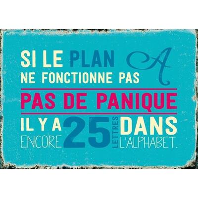 """Carte Postale Vintage :  """" Si le plan A ne fonctionne pas, Pas de panique... """""""