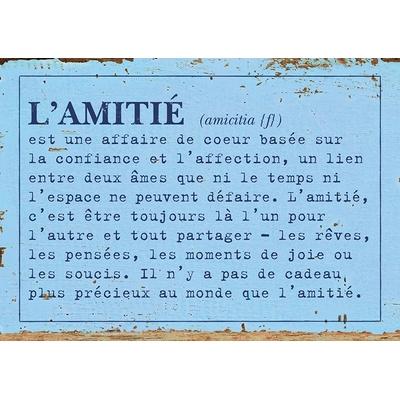 """Carte Postale Vintage :  """" L'amitié est une affaire de coeur ... """""""
