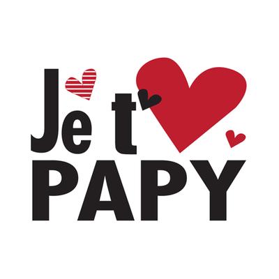 """Carte Postale """" Je t'aime Papy  """""""