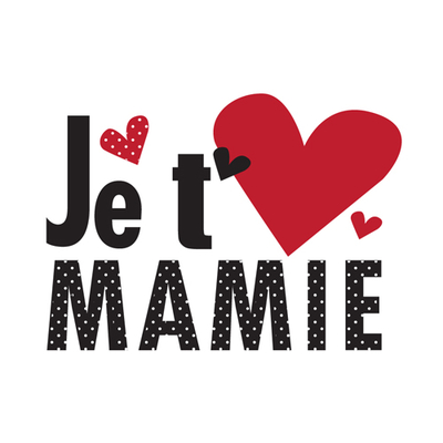 """Carte Postale """" Je t'aime Mamie """""""