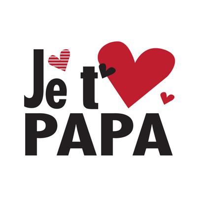 """Carte Postale """" Je t'aime papa """""""